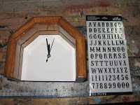 Peel and stick numbers for the clock face