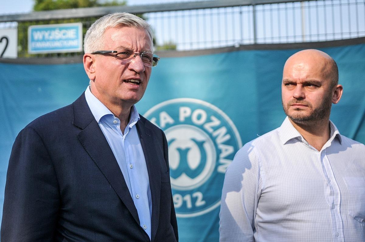 Jacek Jaśkowiak i Bartłomiej Farjaszewski | foto: Piotr Leśniowski / Warta Poznań
