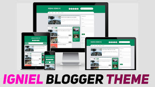 Igniel Responsive Blogger Template New Version