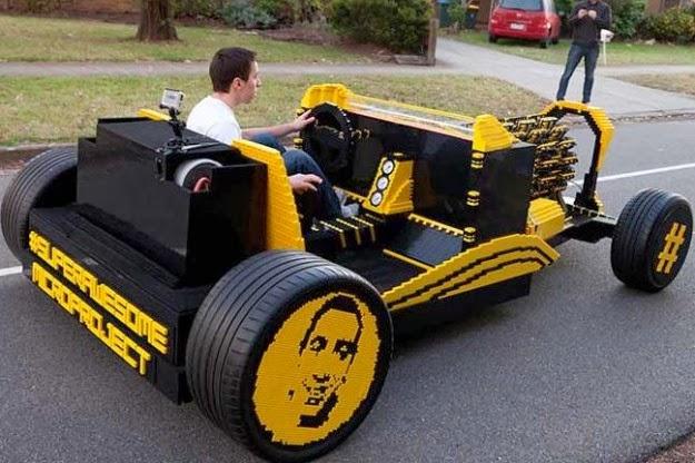 Amazing lego air-powered car