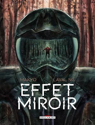 """couverture de """"EFFET MIROIR"""" de Makyo et Laval Ng chez Delcourt"""