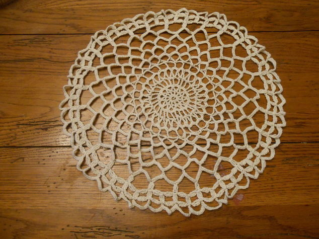 How to Make Cement Lace Using Doilies