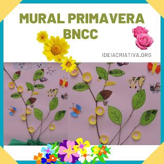 Mural da primavera BNCC na prática elementos naturais