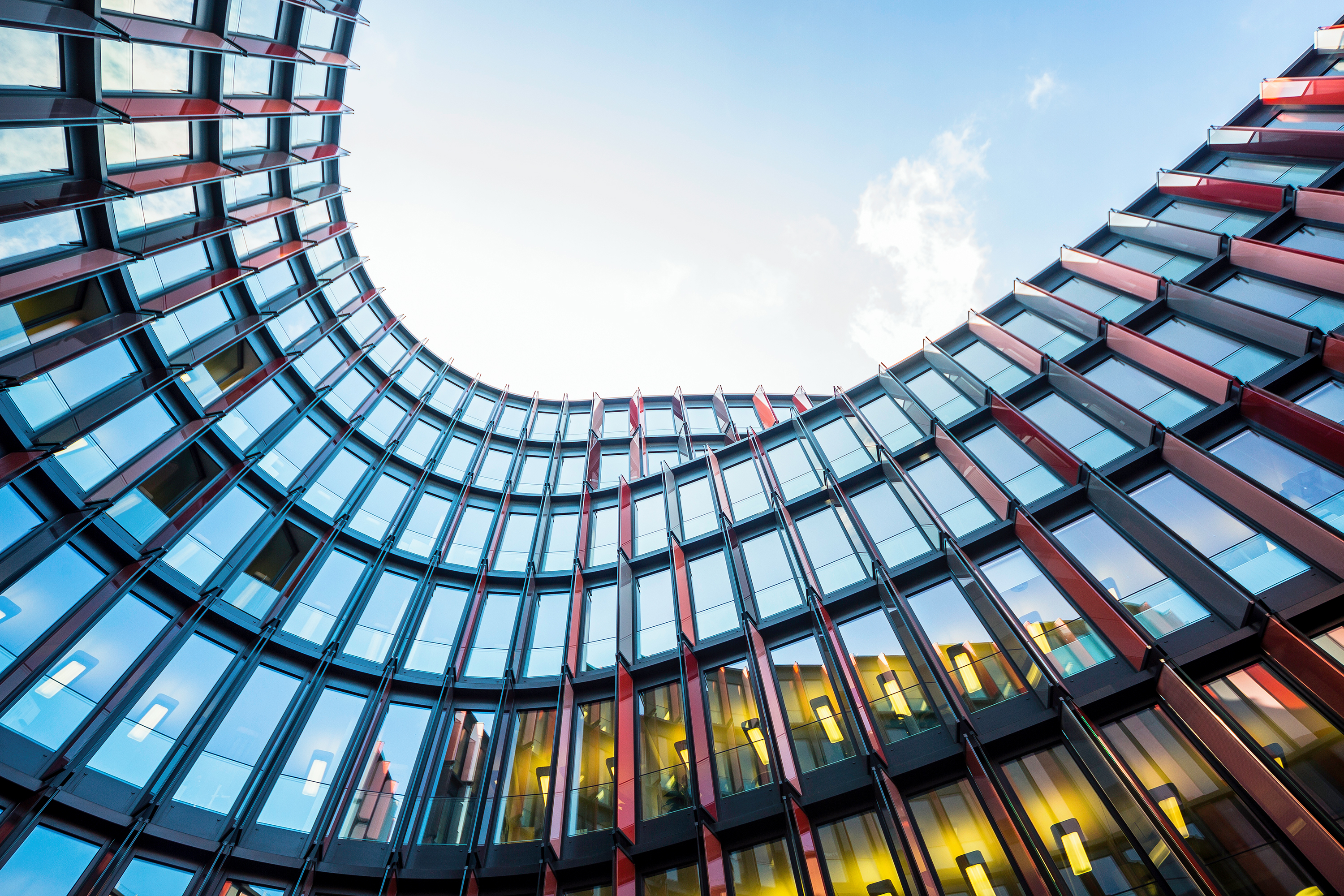 Architecture, Office, Building, Oval, Glass, HD, World