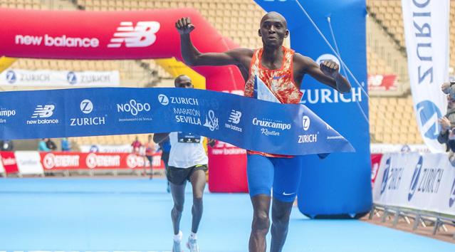 Dickson y Boulaid vencen la Zurich Maratón de Sevilla 2018