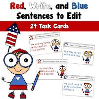 Edit Sentences Task Cards
