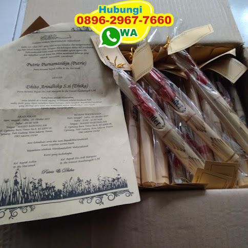 pabrik Undangan bambu murah 50544
