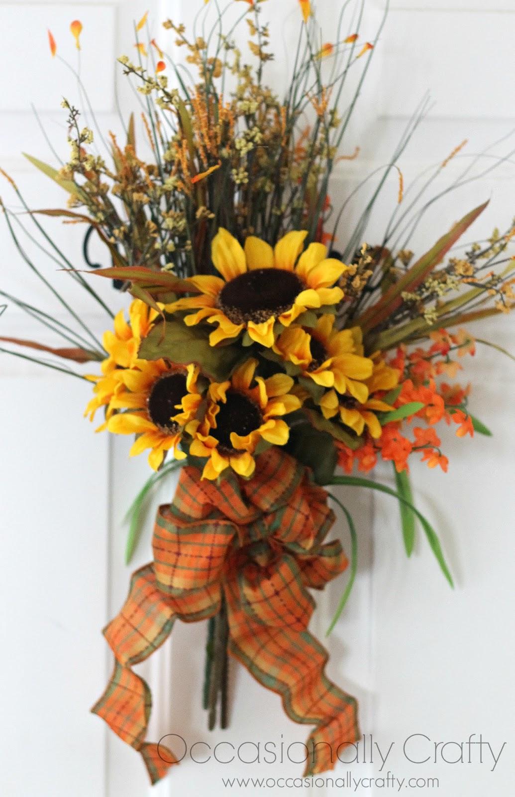 Fall Sunflower Door Decor   Occasionally Crafty: Fall ...