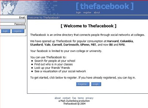 old facebook login