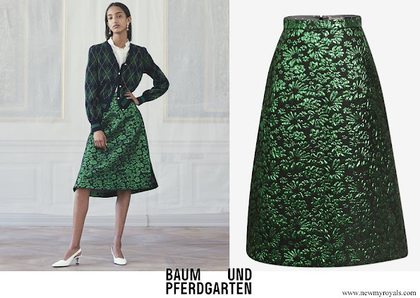 Crown Princess Victoria wore Baum und Pferdgarten Salal Skirt