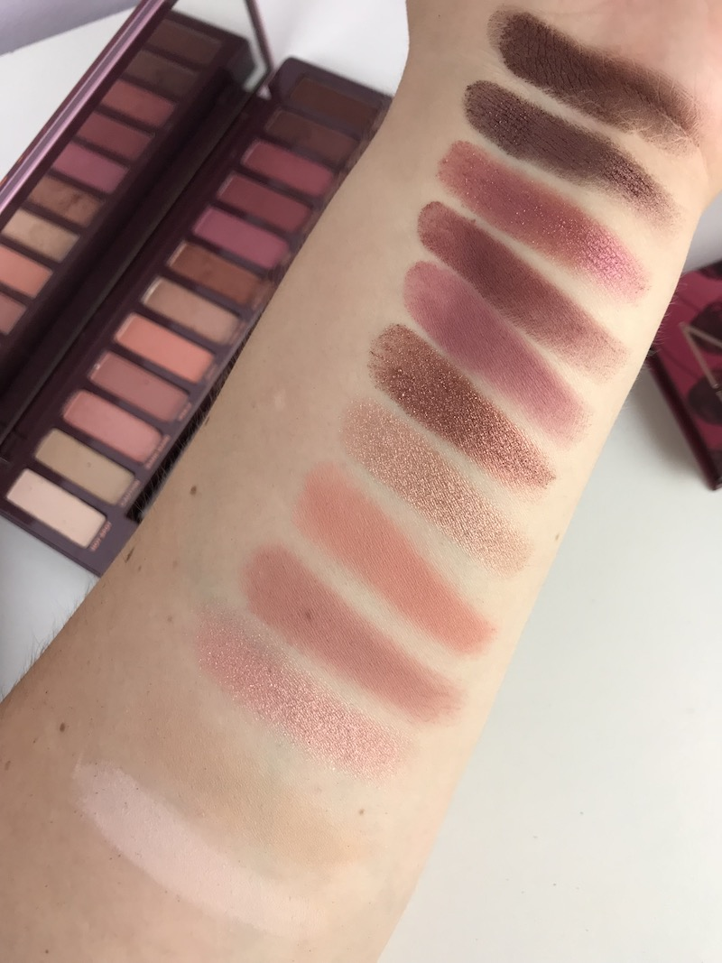 Naked Cherry Eyeshadow Palette Swatches-Urban Decay