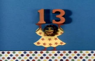 Masked March 13 is an animation about number 13. Sesame Street The Great Numbers Game