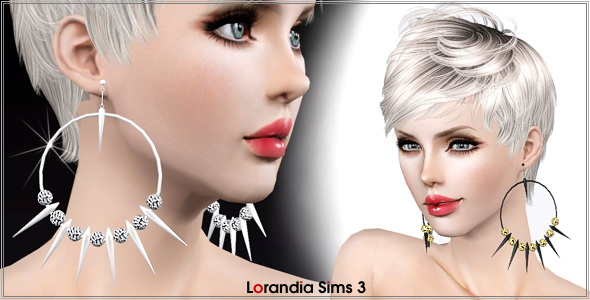 sims 3 earrings my sims 3 spiked hoop earrings with by lore 7082