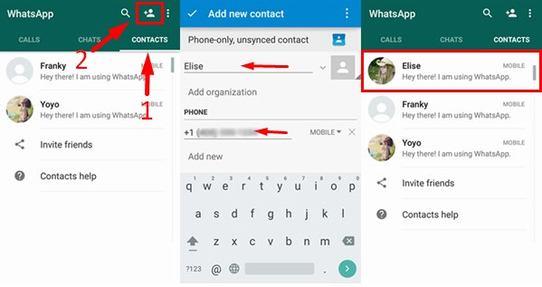 how to add on whatsapp