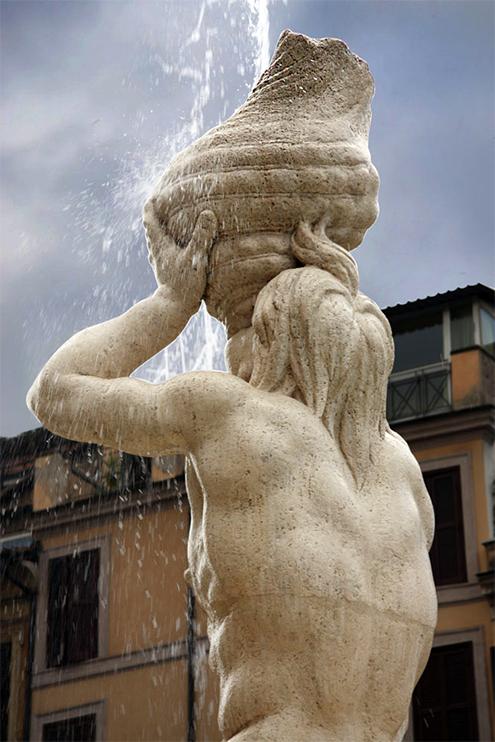Fuente del Tritn por Gian Lorenzo Bernini Barroco