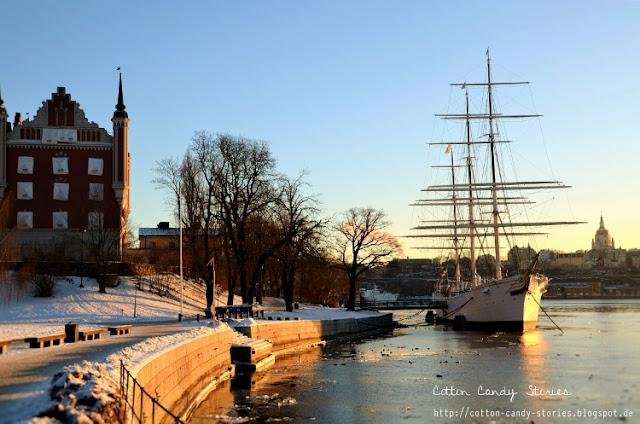 Winter auf Skeppsholmen, Stockholm