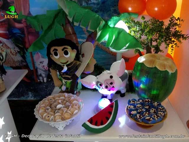 Decoração de aniversário tema Moana - Festa infantil