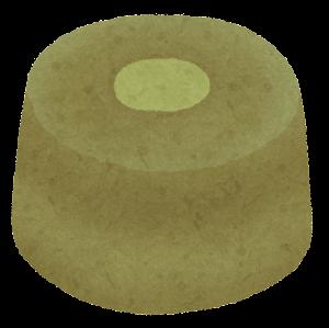 シフォンケーキのイラスト(ホール・抹茶)
