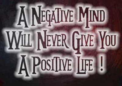Think harmful results of negativity