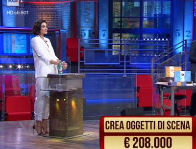 Rocío Morales abbigliamento bianco completo i soliti ignoti 26 aprile