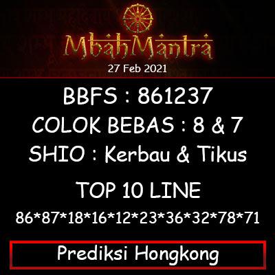 Prediksi Angka Hongkong 27 Februari 2021