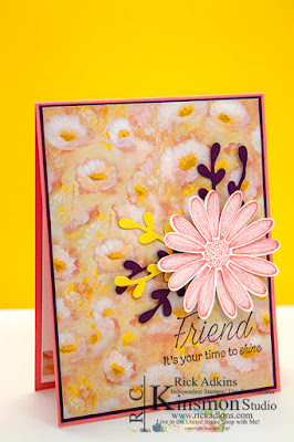 Daisy Lane Stamp Set, Rick Adkins, Stampin' Up!, Flirty Flamingo Cardstock, Daffodil Delight Cardstock, Blackberry Bliss Cardstock