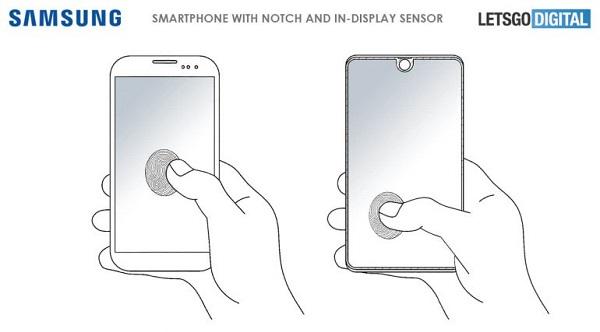 سامسونج تسجل براءة اختراع لميزة ماسح البصمة على الشاشة كاملة