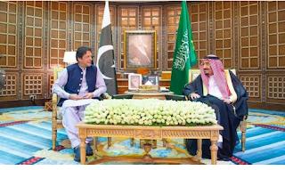 رئيس الوزراء الباكستاني يلتقي مسؤولين سعوديين