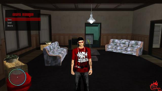 GTA San Andreas Outfit Manager Like GTA 5 Cheat Menu