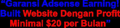 Jasa Website Adsense Bule Keuntungan Minimum $20 per Bulan