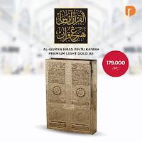 Dusdusan Al Quran Emas Pintu Kabah Premium Light Gold A5 ANDHIMIND