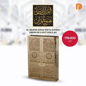 Al Quran Emas Pintu Kabah Premium Light Gold A5