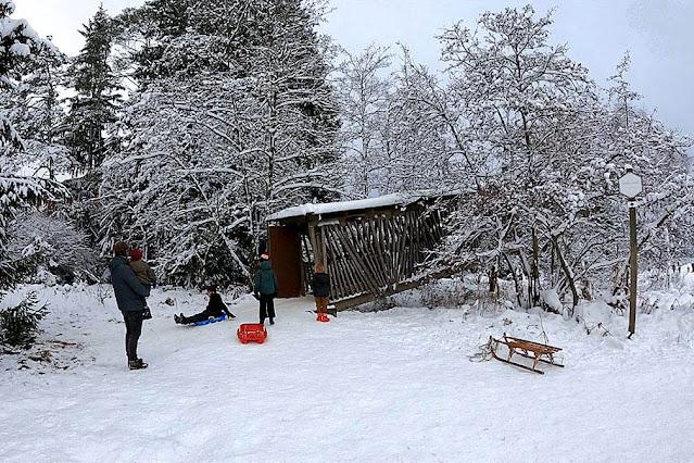 Mirador Observation Point Saint Hubert Snow in Belgium