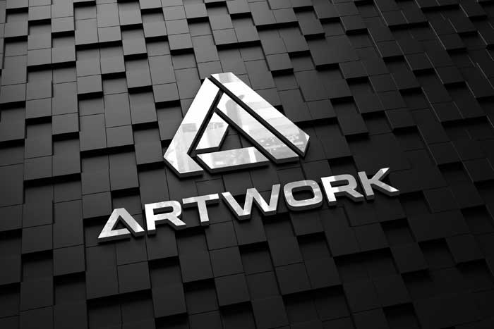 Realistic Dark Wall Logo Mockup