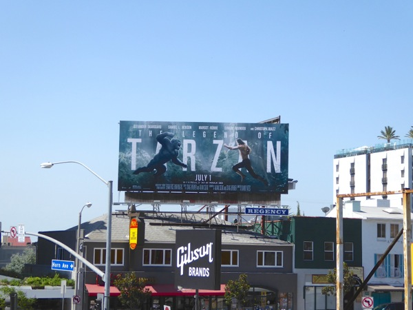 Legend of Tarzan movie billboard