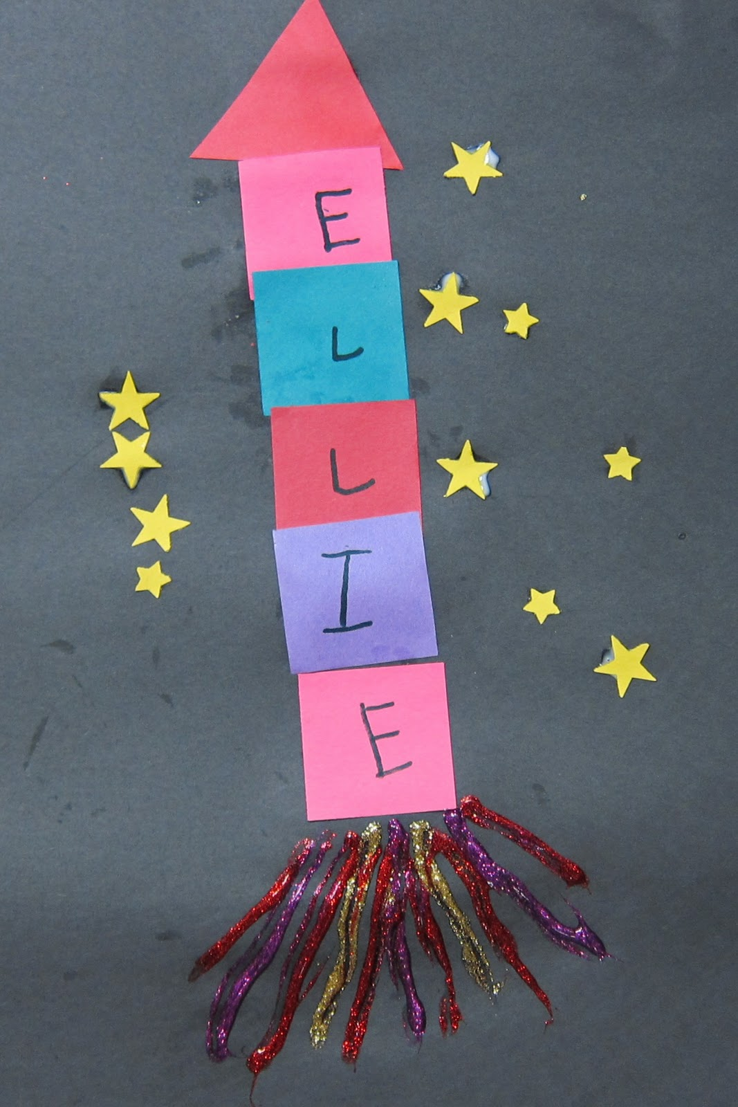 Preschool Crafts For Kids Name Rocket Space Craft