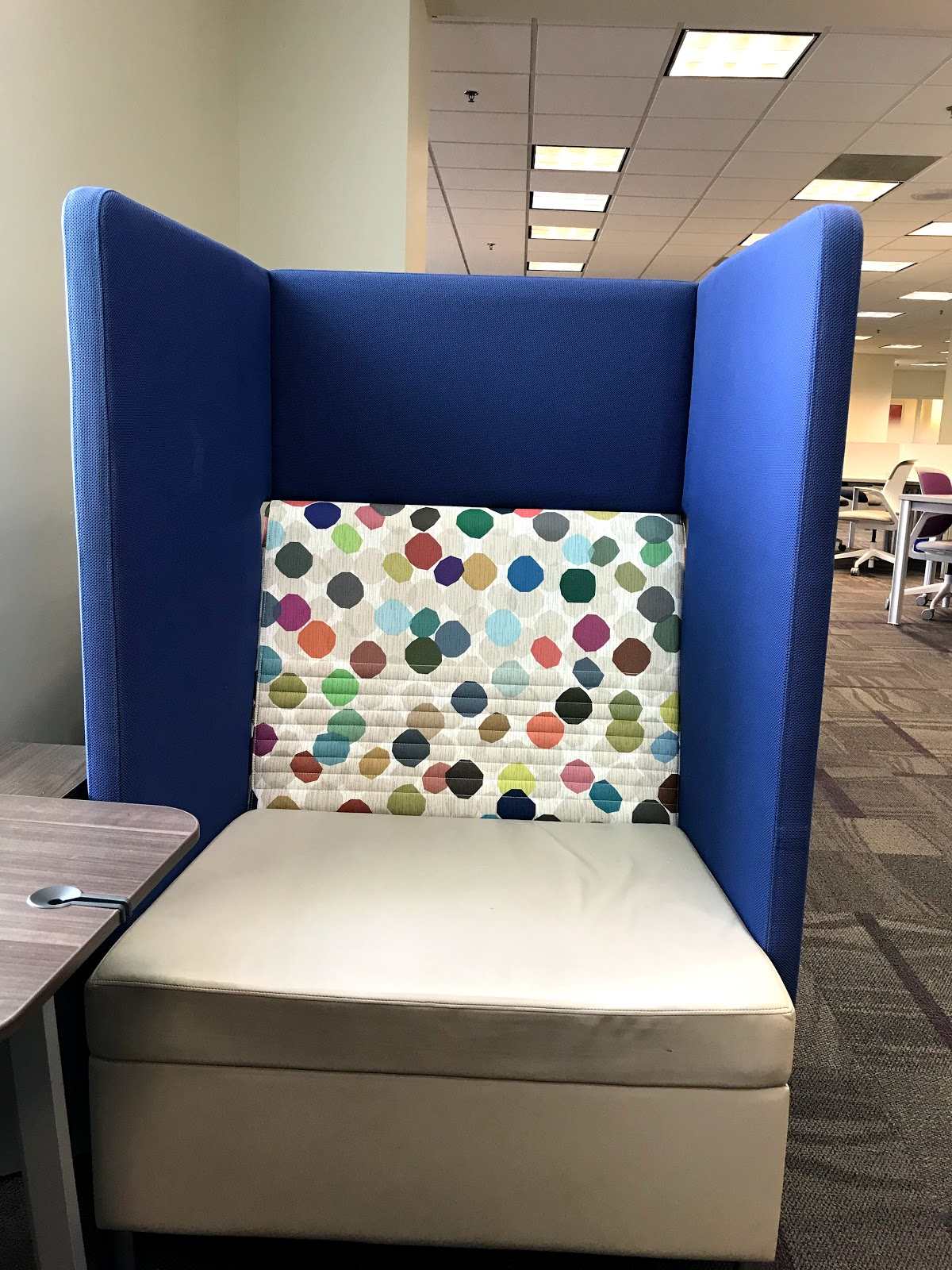 Image: Colorful chairs for students to enjoy at Texas Women's Univesity