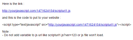 Hosting Blanter Javascript