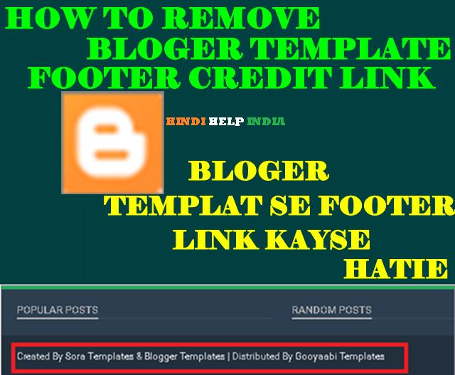 bloger template se cridet link kayse hati pure jankare in hindi