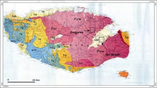 Geological map of Buru Island