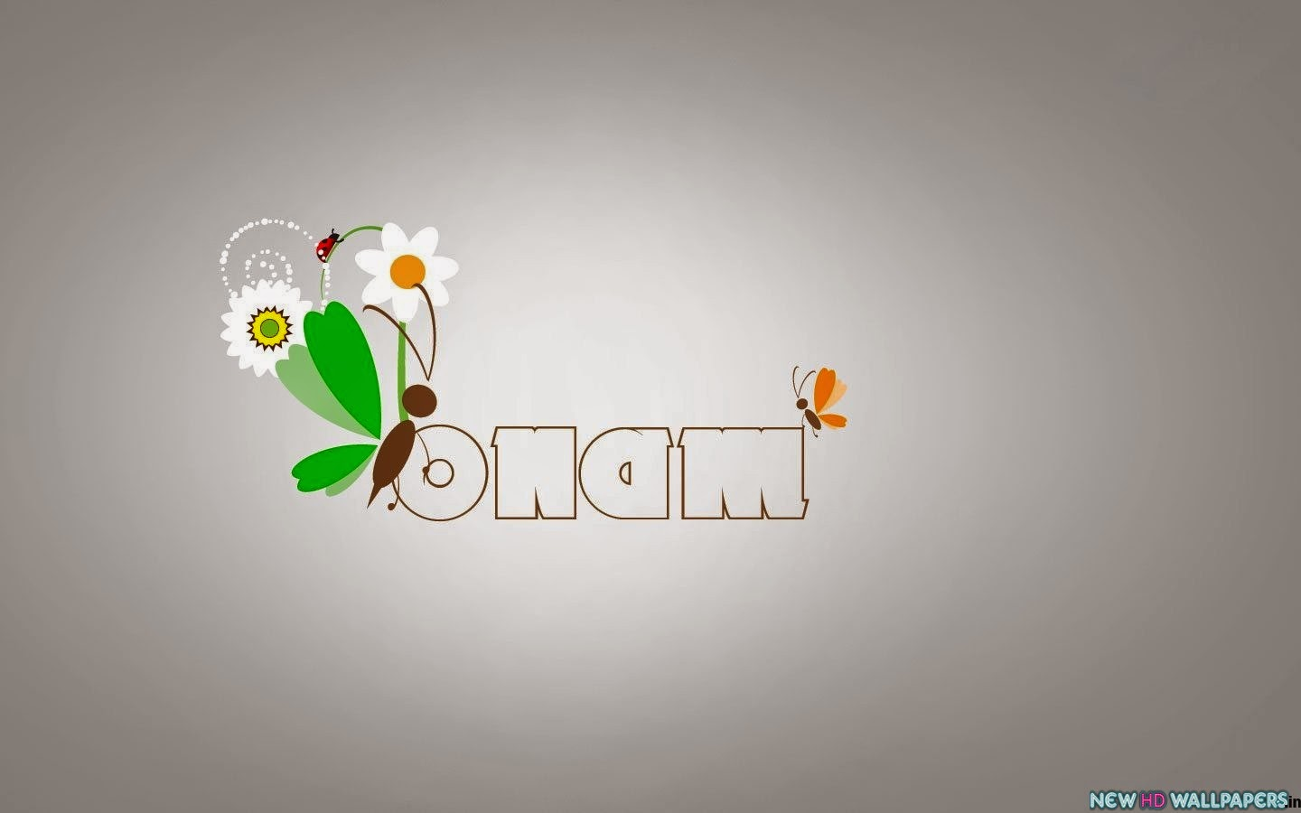 onam images with butterfly sitting on onam text