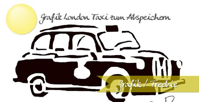 Grafik London Taxi für als eine Schablone zum Selbstmachen