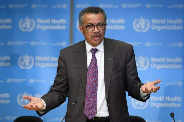 """منظمة الصحة العالمية : العالم لا يزال في منتصف الموجة الأولى من تفشي فيروس كورونا ومقبل على""""ذروة ثانية فورية"""""""