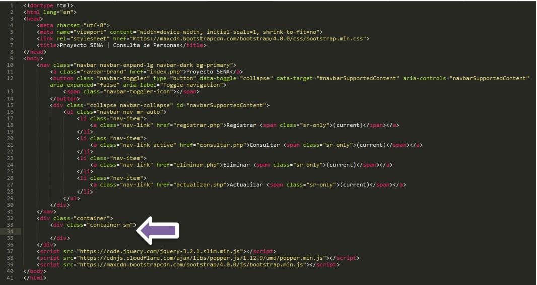 Registro de personas en Php y MySQL