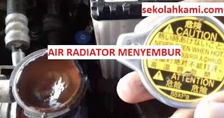 air radiator menyembur saat di gas