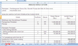 gambar screenshoot excell rab sumur bor 3