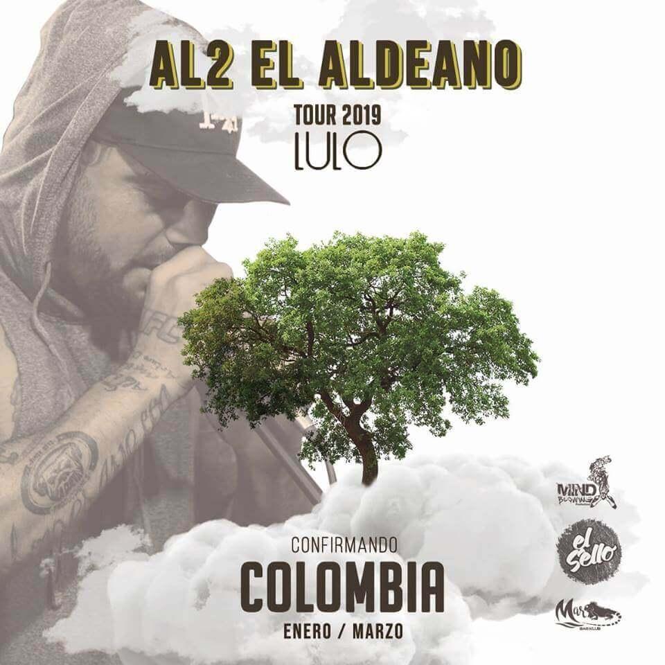 POS Concierto de AL2 El Aldeano en Bogotá