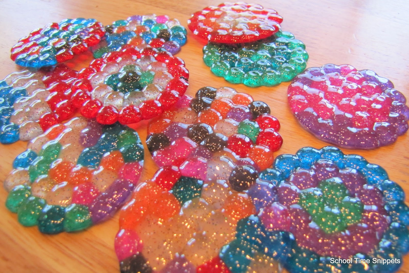 Melted Beads Sun Catcher Craft | School Time Snippets