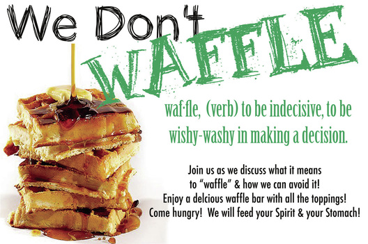 4 steps to an lds waffle bar party