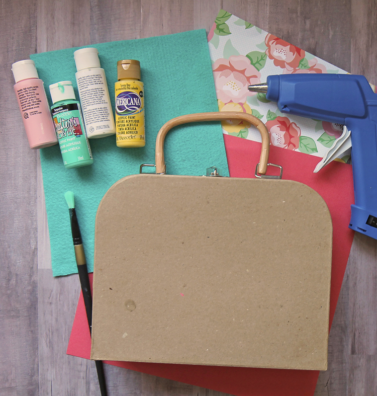 paper mache suitcase for crafting